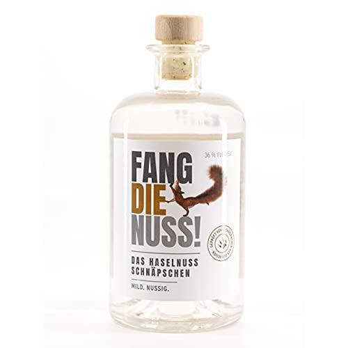 Fang die Nuss | Haselnuss Schnaps | 36% Vol. Alkohol | Geprüft von Eichhörnchen aus der Region |...