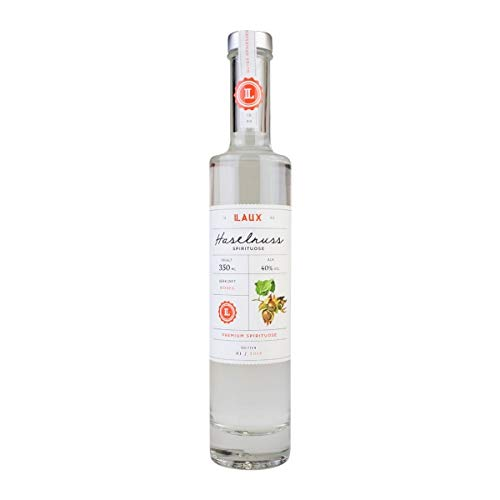 LAUX® Haselnuss Schnaps - Premium Spirituose - Nussige Noten & Intensives Aroma - Hochwertige...