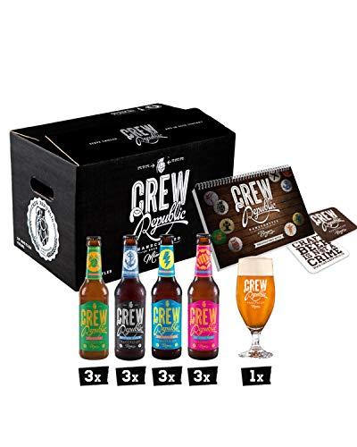 CREW REPUBLIC® Craft Beer IPA Mix | Probierset | Ideales Geschenk für Männer | Bierspezialitäten...