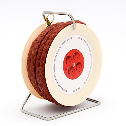 WURSTBARON® Wurst Kabeltrommel - 3,5 Meter Wurst nach Krakauer Art auf einer Mini Kabel-Trommel -...