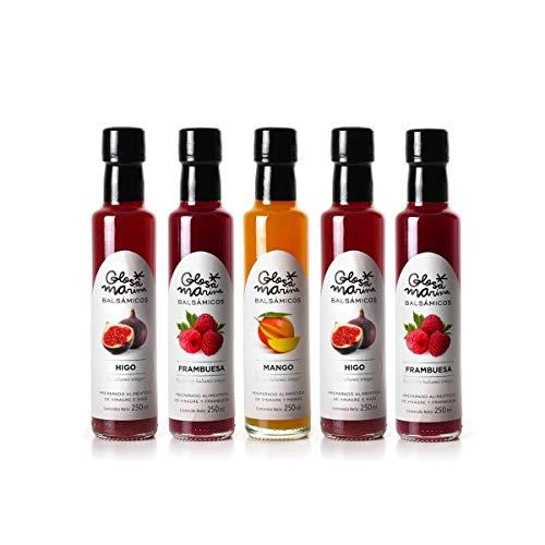 GLOSA MARINA 5er Gourmet Paket *MANGO, FEIGE, HIMBEERE* Crema Balsámica de Mango, Higo, Frambuesa -...