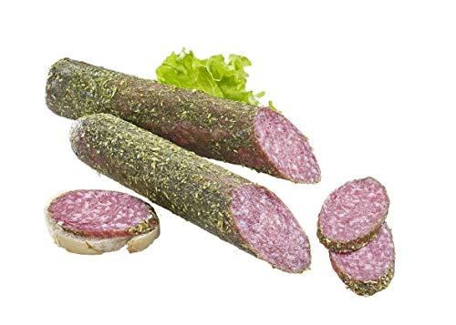 Brotkleesalami, luftgetrocknete Salami mit Brotkleekruste