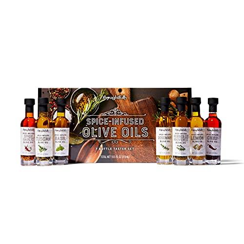 Modern Gourmet Foods - Spice Infused Olive Oil - Probierset mit 7 leckeren Olivenölen - Mit...