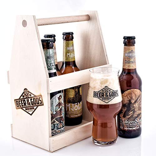 WACKEN BRAUEREI Craft Beer Tasting Geschenkset 5 x 0,33 l verschiedene Sorten + Bierglas BEER OF THE...