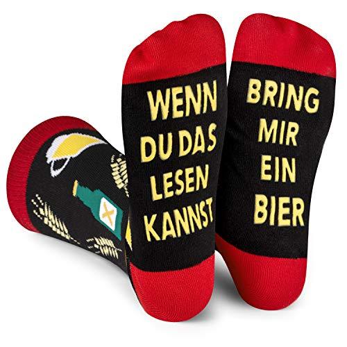 Lavley Wenn Du Das Lesen Kannst Bring Mir Lustig Socken für Frauen und Männer (Bier)