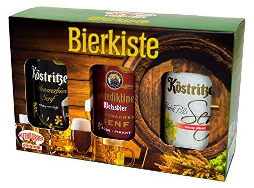 Altenburger Original Bierkiste - drei mit Bier verfeinerte Senfsorten als Geschenk-Set (3-teilig),...