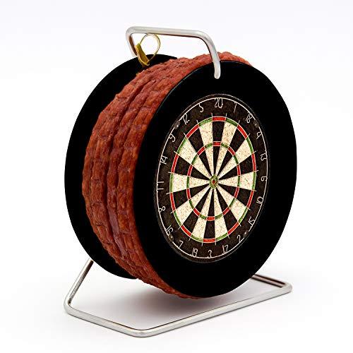 WURSTBARON® - Wurst Dartscheibe Dartboard - 3,5 Meter Snack Salami nach Krakauer Art auf einer Mini...