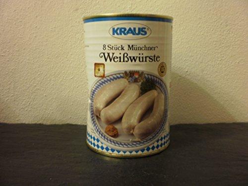 8 Stück Münchner Weißwurst vom Metzger keine Industrieware Konserven 500 Gramm