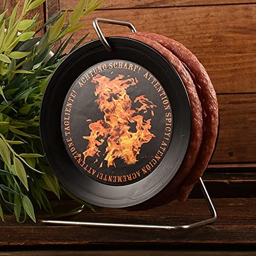 WURSTBARON® - Scharfe Wurst-Kabeltrommel - SCHARFE Snack-Salami / Chorizo auf Mini-Kabeltrommel -...