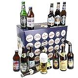Bavariashop Bier Adventskalender mit Bayerischem Bier, Zünftiger Kalender Vorweihnachtszeit, 23 x...