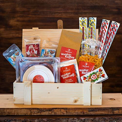 WURSTBARON® Geschenkkiste, Wurst & Salami Geschenk für Männer - mit Kaffee, Kabeltrommel, Pasta &...