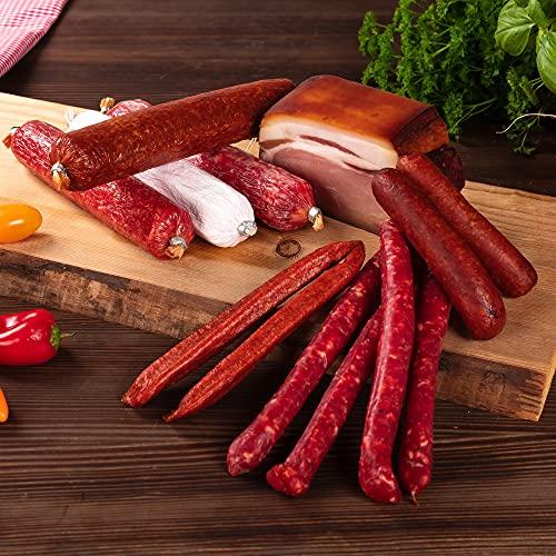 WURSTBARON Bayerisches Probierpaket - Fleisch & Wurst-Set aus Premium Salami-Variationen & Speck -...