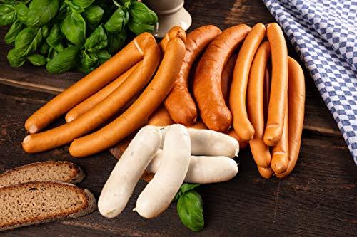 WURSTBARON® - Wurst Probierpaket - Currywurst, Wiener Würstchen, Käsekrainer, Käse, Wiener...