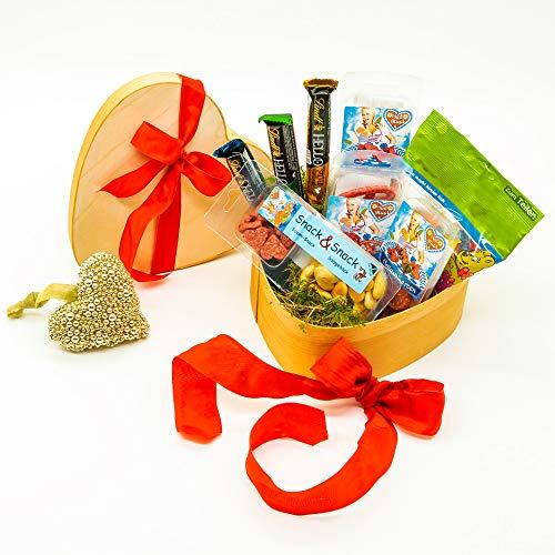 WURSTBARON® Herz Geschenkkiste - Tolles Wurst & Salami Geschenk - Geschenkidee zu Ostern,...