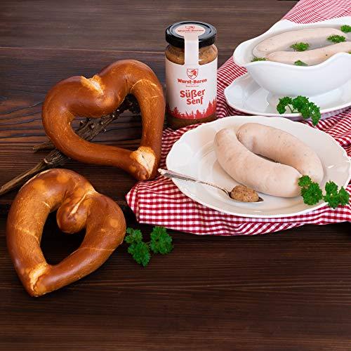 WURSTBARON® Weißwurst Set bestehend aus Breze, Weißwurst & Senf, schmackhaftes Geschenk,...