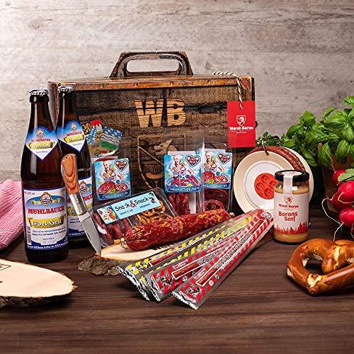 WURSTBARON® Feierabend Set – ideales Paket für den Feierabend – Wurstpaket aus Salami Snacks,...